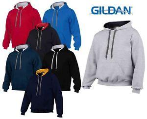 Gildan-Heavy-Blend-Plain-Contrast-Hooded-Sweatshirt-Hoodie-Sweat-Hoody-Jumper