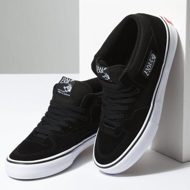 Vans Half Cab Womens Black Suede Athletic Sneakers Shoes Size Uk 5 For Sale Online Ebay