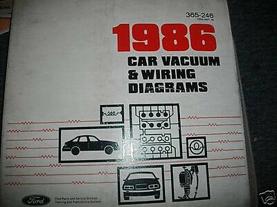 1986 Ford Thunderbird Mercury Cougar Wiring Diagrams Sheets Set Ebay
