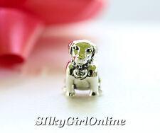 Authentic Pandora 925 #791379cz Labrador Dog slide Bead Charm Jewelry NWOB