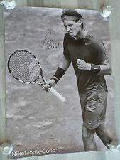 Affiche 60x80 signed RAFAEL NADAL Monte Carlo ROLAND GARROS poster tennis