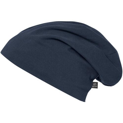 Brandit Jersey Cap Unicolour Cold Weather Warm Winter Sailing Marine Beanie Navy
