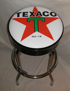 Texaco-Large-Big-Star-Gas-Sign-Bar-Stool-Stools