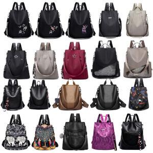 Damen-Maedchen-Rucksack-Diebstahlsicherer-Schulreise-Umhaengetaschen-Handtasche