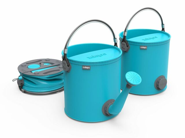 Colapz Collapsible 2in1 7L Watering Can & 10L Bucket Gardening Aqua  New Combo