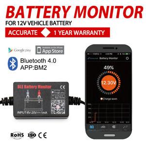 12V-Vehicle-Battery-Monitor-via-bluetooth-4-0-Voltage-Meter-Tester-w-auto-Alarm