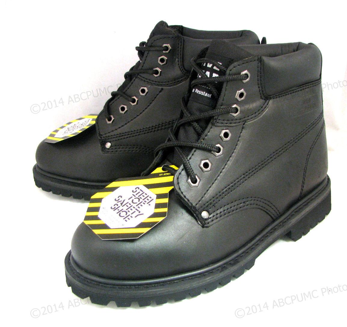 New Men's Steel Toe Work Oil Boots 6
