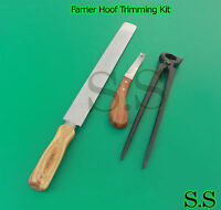 Farrier Hoof Trimming Kit/hoof Nipper/hoof Knife/rasp/re-setting/cutting/sole