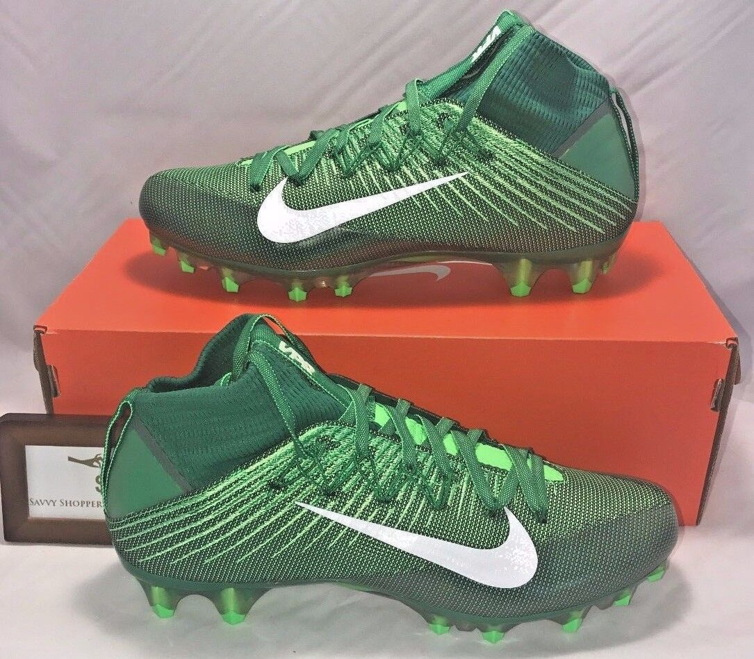 NIKE MENS SIZE 13.5 VAPOR UNTOUCHABLE 2 FLYWEAVE GREEN WHITE LIMITED NEW RARE