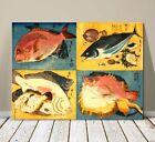 """Beautiful Japanese Sea Ocean Art ~ CANVAS PRINT 8x10"""" ~ Sea Fish"""