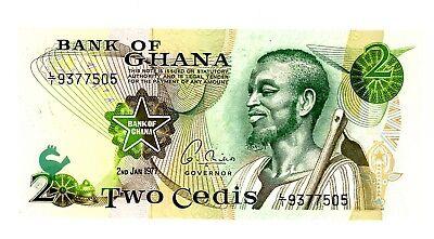 2-1-1977 14c UNC 2 Cedis P-14 Ghana // Africa