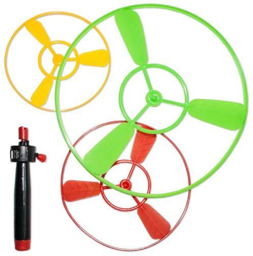 Großhandel & Sonderposten Spielzeug XXL Flugkreisel Propeller Hubschrauber 10,12 &18 cm Set fliegendes Ufo Flieger