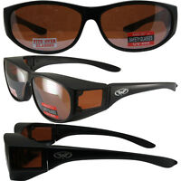 Escort Glasses Fits Over Most Prescription Eyewear Black & Driving Mirror Lens