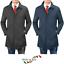 Impermeabile-Uomo-Giubbotto-Invernale-Trench-Lungo-Blu-Nero-Casual-Slim-Fit miniatura 1