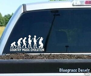 B1027 Country Music Evolution Decal Sticker Car Truck Suv