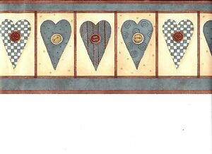 DEBBIE-MUMM-COUNTRY-HEARTS-AND-BUTTONS-WALLPAPER-BORDER