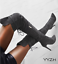 Details about  /Womens Stiletto Heels Lace Up Zipper Shoes Ladies Over The Knee Thigh High Boots