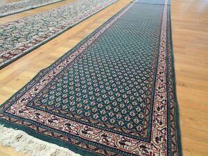 2x14 3x14 Meir Indian Runner Oriental Area Rug Wool Green