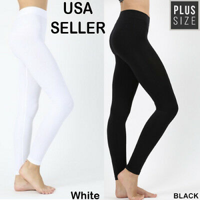 Clothing, Shoes & Accessories Leggings New Women Plus Full Length Legging Stretch Pant Solid Cotton Yoga Gym Usa 2x/3x
