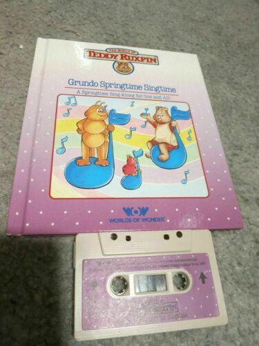 Teddy Ruxpin Book and Tape Grundo Springtime Singtime