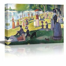 "A Sunday on La Grande Jatte by Georges Seurat Giclee Canvas Prints- 16"" x 24"""