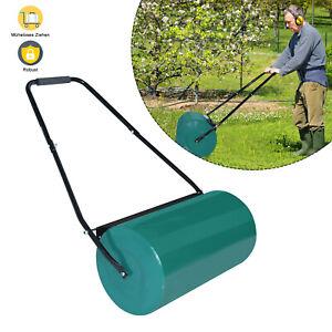 57cm Rasenwalze Handwalze Rasenroller Gartenwalze Rasenlüfter Metall Ackerwalze#