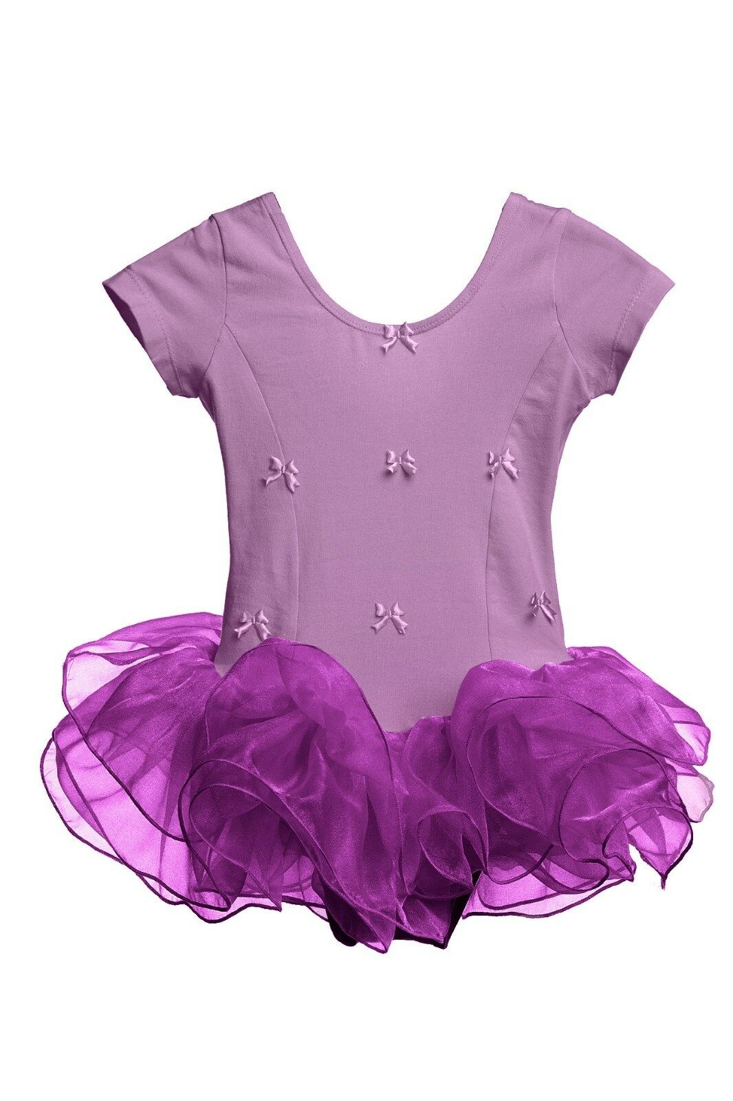 Girls Ballet Dress Dance Tutu Dress Purple Pink 2 3 4 5 6 7 Years