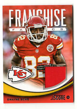 DWAYNE BOWE NFL 2013 SCORE FRANCHISE FABRICS (KANSAS CITY CHIEFS, BROWNS)