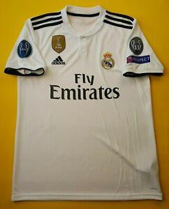 5-5-Real-Madrid-jersey-medium-2019-home-shirt-DH3372-football-soccer-Adidas-ig93