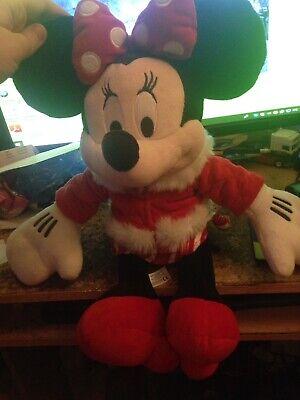 """16"""" 2010 Disney Store Minnie Mouse Natale Peluche Giocattolo Morbido In Buonissima Condizione- 2019 Ultima Vendita Online Stile 50%"""
