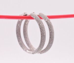 35mm-Inside-Out-Diamonique-Pave-CZ-Hoop-Earrings-14K-White-Gold-Clad-Silver-925