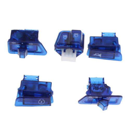 Turn Signal Headlight Ignition Horn Switch Caps for GY6 50 125 150cc Blue
