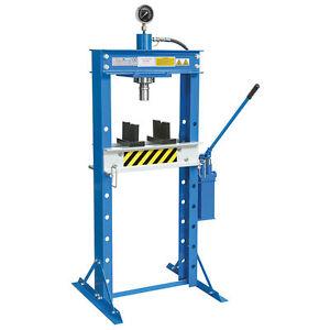 Fervi pressa 30 t manuale idraulica a 2 velocita 39 pistone for Pressa idraulica manuale