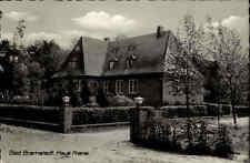 Bad Bramstedt Niedersachsen 1960 Partie Haus Krane Gebäude Garten Mauer gelaufen