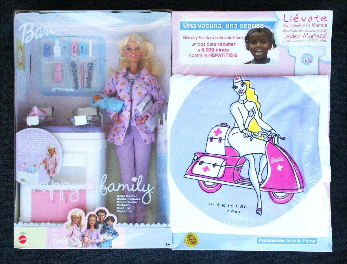 BARBIE HAPPY FAMILY, BABY DOCTOR. WITH EXCLUSIVE T-SHIRT, Unique @      BNIB