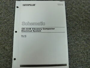 s l300 caterpillar cat cb 434b compactor electrical system schematic