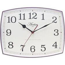 Acctim Louisa Off White Cream Dial Purple Case Wall Clock 22106