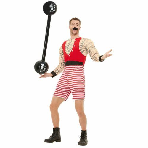 Deluxe Strongman Costume Circus Fancy Dress Buff Bodybuilder Strength Humour