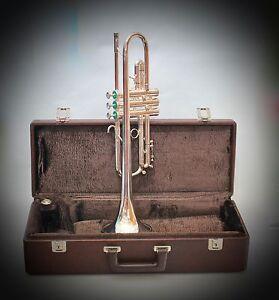 Trompete-Signature-2000-Custom-Series-U-S-A-Silber-Traumzustand-Trumpet