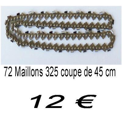 Lot de 3 chaînes 72 maillons pour tronçonneuse 0.325 1.5mm 72 maillons