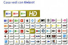 TESSERA  -  SCHEDA  TIVUSAT HD 4K  DA  / ATTIVARE  NUOVA  GARANZIA  24 MESI