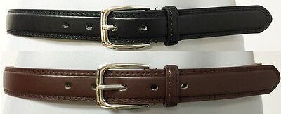Men/'s Black Brown Casual Dress Genuine Leather Belt w// Buckle Size S M L XL New
