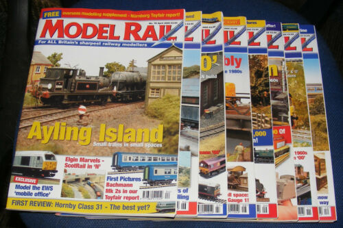 MODEL RAIL MAGAZINES VARIOUS ISSUES 2005 2006 INCLUSIVE