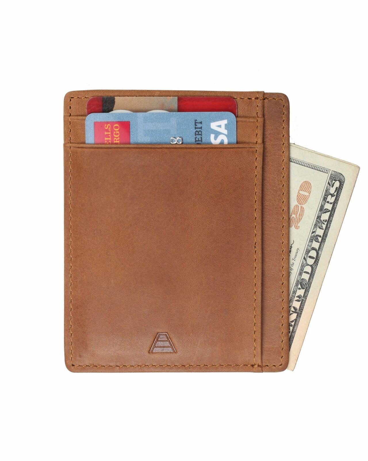 Andar - Slim, Front Pocket, RFID Block, Full Grain Leather Wallet - The Scout