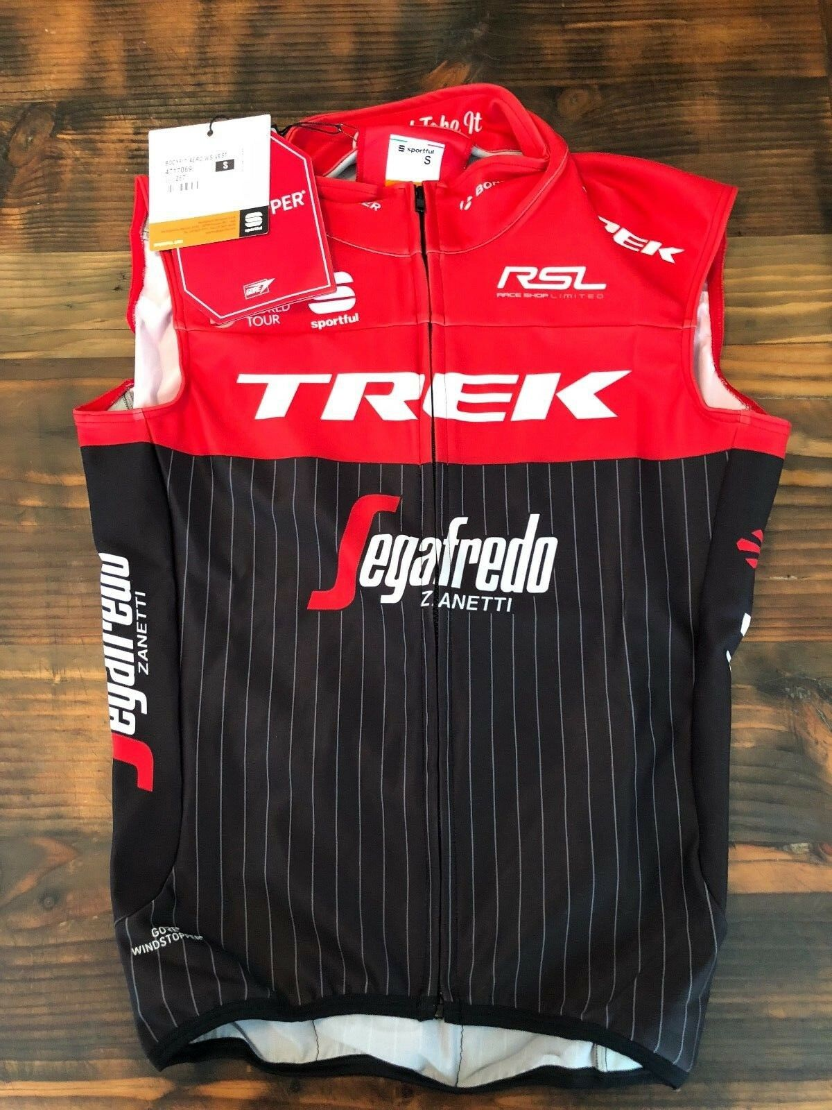 Trek Segafredo Pro Tour Sportful Team Aero WS Vest Size  Small