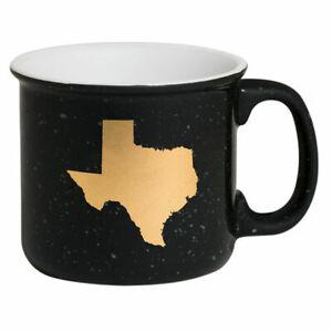 State-of-Mine-Texas-Campfire-Mug-13-5oz-Campfire-Coffee-Cup-Black-and-Gold-NIB