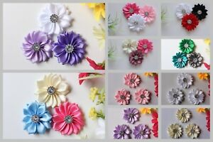 Handmade-DIY-Flower-3x-Daisy-Flowers-Embellishment-Craft-for-Headband-Hair-Clips