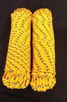 Schot,seil 4-16 Mm,30m ,strick,kordel,polypropylen Seil, Polypropylenseil, Gelb