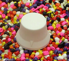 Three 3 Standard KNOBEEZ MADE IN USA Rubber Guitar Knobs and Bass Knobs - White