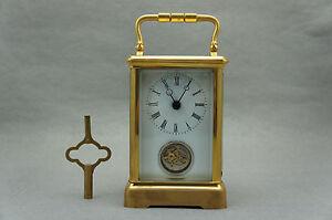 24K Gold Tourbillon Carriage Clock wz delicate leather box  promotion low price